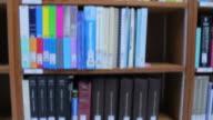 Bookshelf in Library video