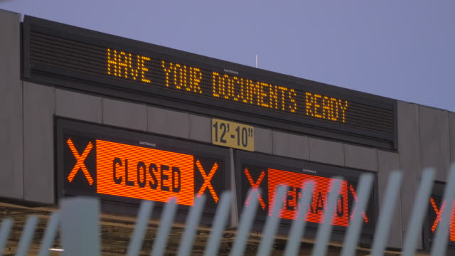 Border Crossing Documents Sign video