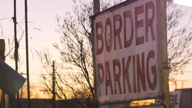 Border Crossing Parking Lot Sign video