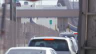 Border Traffic Near the Bridge of Americas video