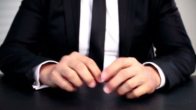 Bored and Stressed Businessman video