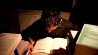 Bored Man Reading Book video