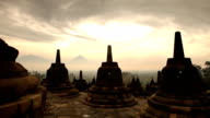 Borobudur Temple Sunrise Panorama video