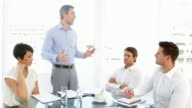 Boss storming off in anger during meeting video