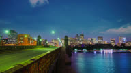Boston. Bridge to city. video