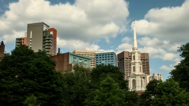 Boston Common Timelapse: Skyline and Clouds from the City Park video