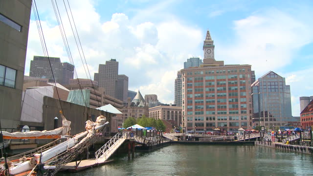 HD: Boston from a boat video