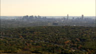 Boston From the North  - Aerial View - Massachusetts,  Middlesex County,  United States video