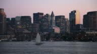 Boston Harbor and Skyline video