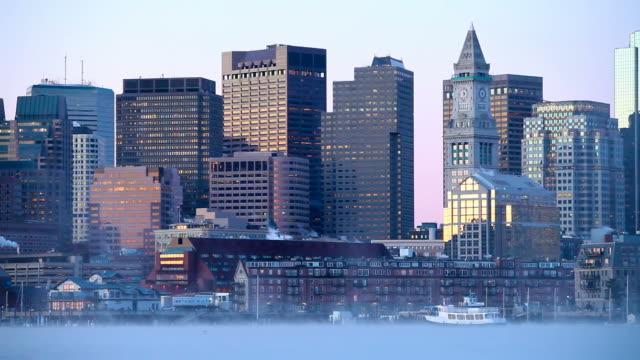 Boston Harbor Arctic Sea Smoke video
