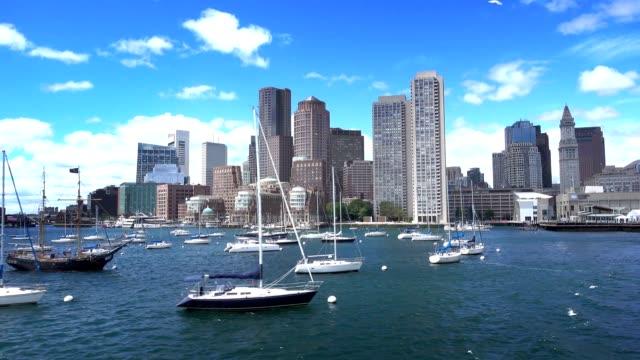 Boston Skyline Establishing Shot as Seen from Boston Inner Harbor video