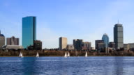 Boston skyline timelapse video