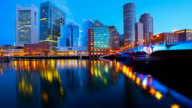Boston Skyline Timelapse video