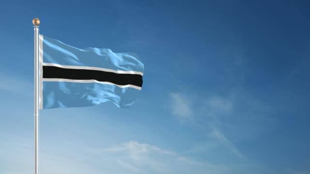 4K Botswana Flag - Loopable video