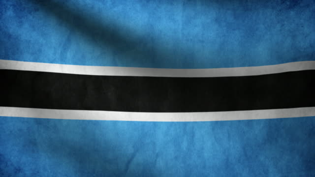 Botswana flag. video