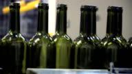 Bottle red wine line video