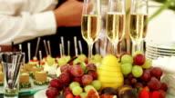 Bottling champagnes on banket video