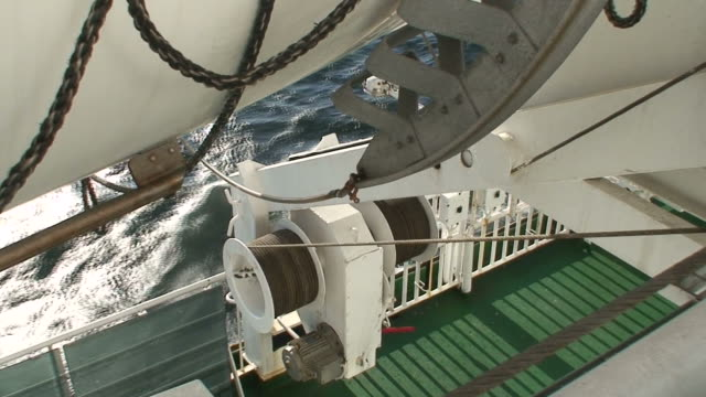 Bottom of lifeboat on cruise ship (HDV1080i/50) video