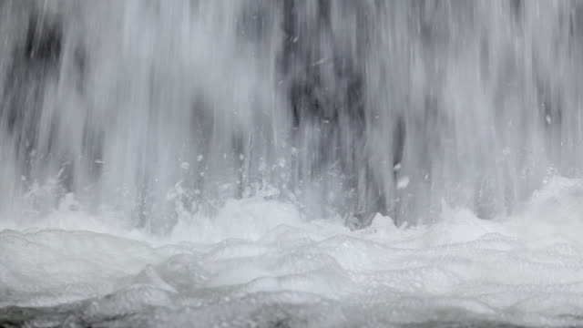 HD bottom of waterfall video