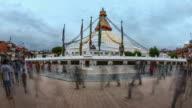 Boudhanath Stupa Time-lapse of Kora: Kathmandu, Nepal video