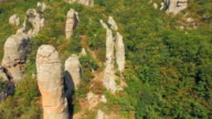 AERIAL VIEW. Boulders In Famous Valley Of Ghosts At Mountain Demerji In Crimea video