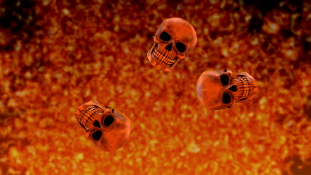 Bouncing Skulls with Background Inferno video