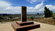Boundary marker at Khorgos border port video