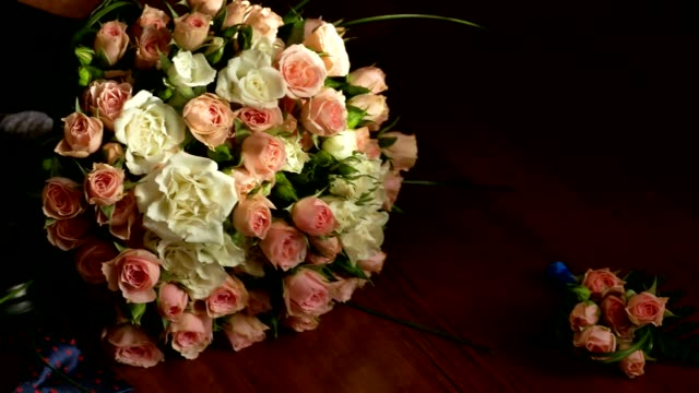 bouquet and wedding video