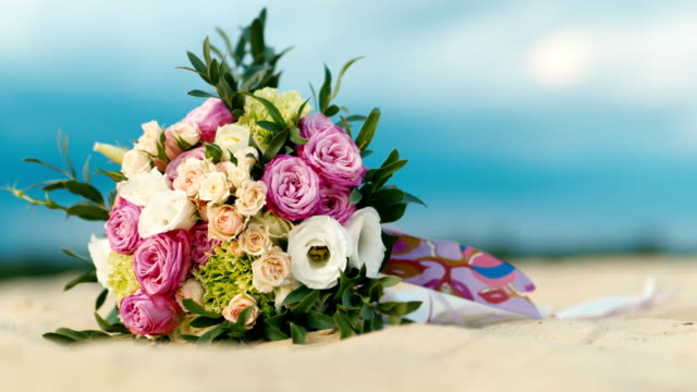 Bouquets of white sand against the sky video