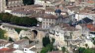 Bourg  - Aerial View - Aquitaine, Gironde, Arrondissement de Blaye, France video