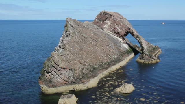 Bow fiddle Rock, Scotland - HD & PAL video