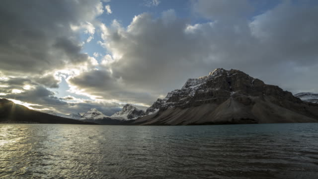 Bow lake time lapse, 4K resolution video