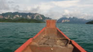 Bow of Longtail Boat video