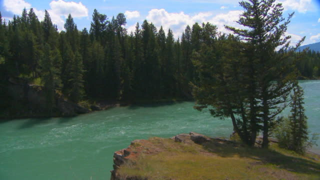 Bow river flows from mountians video