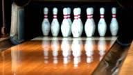 Bowling machine setting up pin video