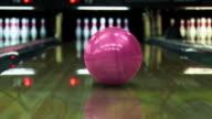 Bowling strike (dolly shot) - HD, PAL video