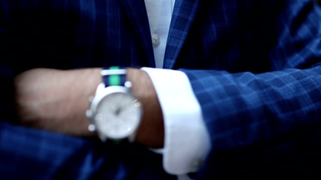 bowtie and handkerchief close up video
