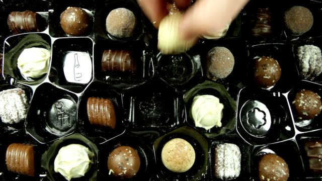 Box of Chocolates disappearing. HD video