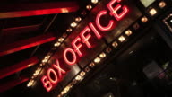 Box Office Neon Sign video