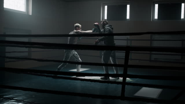 Boxer pad work session with trainer video