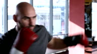 Boxer performing shadow boxing video
