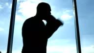Boxer training near the window video