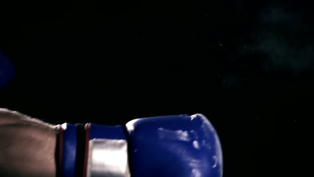 HD SUPER SLOW MO: Boxer's Hand Punching A Bag video