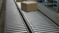 Boxes on a Conveyor Belt video