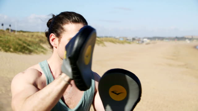 Boxing Training on the Beach video