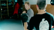 Boxing training two young guys video