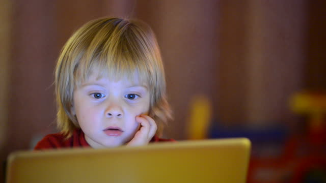 Boy and computer video