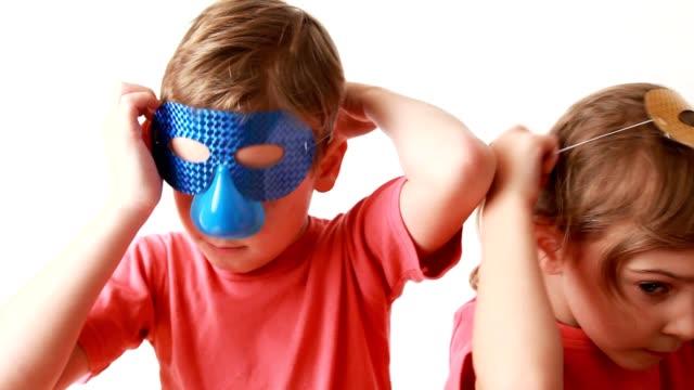 Boy and girl dress masks video