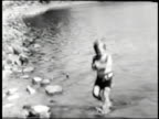 Boy at the lake--From 1930's film video