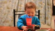 Boy Balancing Milk Bottle video